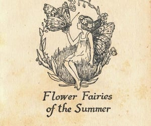 fairy, flowers, and art image