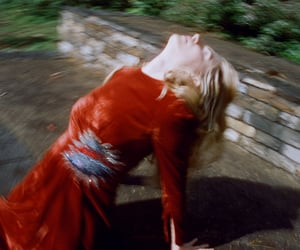 red, woman, and the oa image