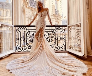 balcony, Couture, and lace image