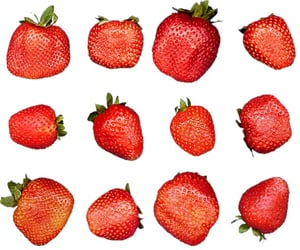 strawberry, food, and fruit image