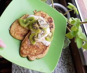 banana pancakes, food, and food porn image
