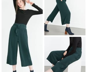 bow, cropped, and culottes image