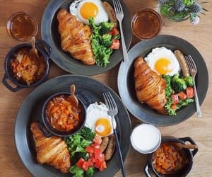 beans, croissant, and meal image