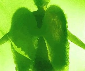 green and angel image