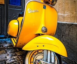Vespa and yellow image