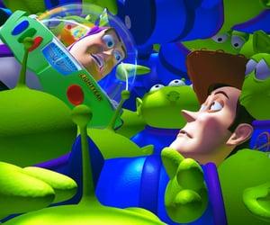 alien, buzz lightyear, and pixar image