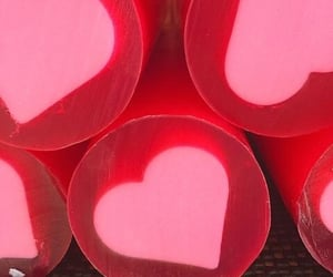 hearts, pink, and red image