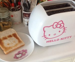 hello kitty, toast, and cute image