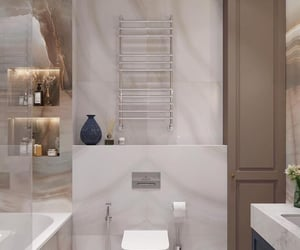 architecture, bathroom, and beige image