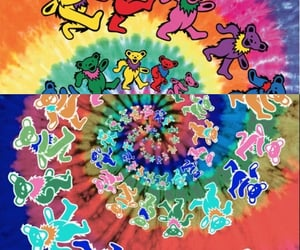 bears, trippy, and grateful dead image