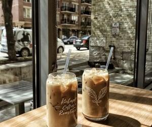 city, coffee, and iced coffee image