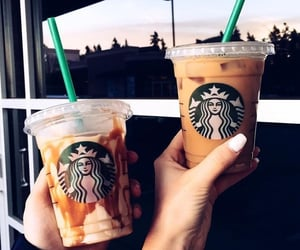 starbucks, yummy, and cold drinks image