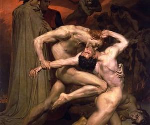 1850, dante and virgil in hell, and bouguereau image