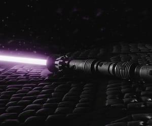 lightsaber, purple, and star wars image