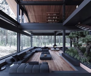 black, home, and interior image