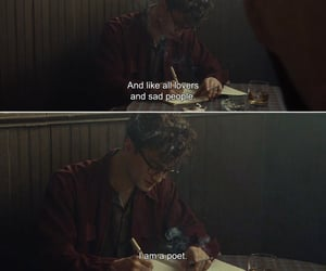 poet, quotes, and sad image