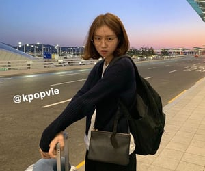 airport, korean girl, and lady image