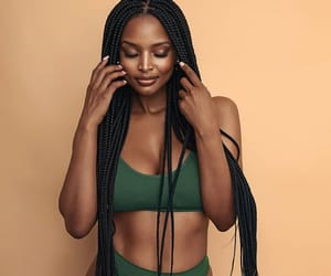 abs, braids, and brown skin girl image