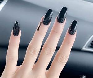 square nails and black&darkblue image