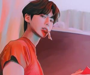 txt, kpop fan art, and kang taehyun image