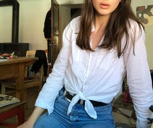 basic, blouse, and jeans image