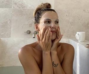 bath, face mask, and girls image