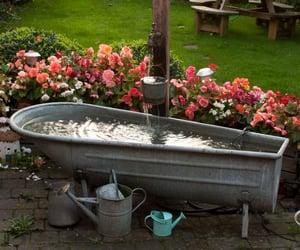 aesthetic, bathtub, and cottage image