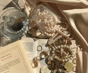 aesthetic, gold, and books image