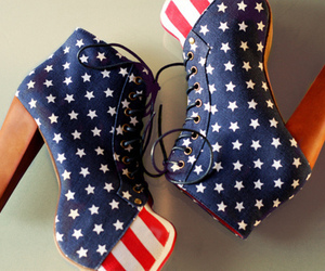 american, heels, and shoes image