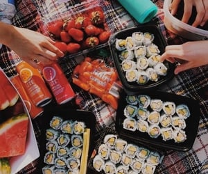 sushi, food, and picnic image