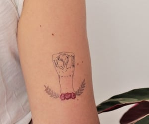 girl power and tattoo image
