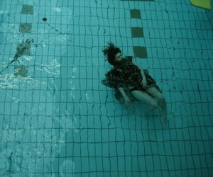 girl, pool, and grunge image