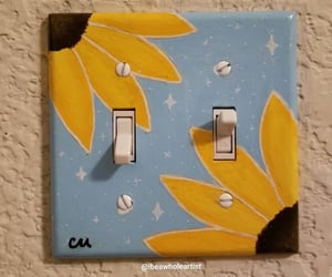 light switch, sunflowers, and aesthetic crafts image