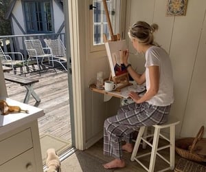 painting, art, and dog image