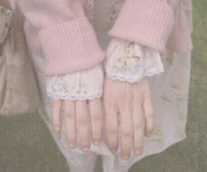 pink, pale, and hands image