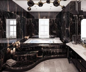 house, bathroom, and marble image