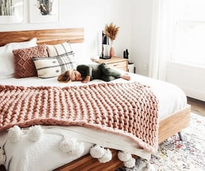 bed, blanket, and family image