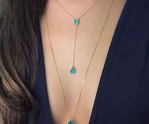 bling, necklace, and blue image