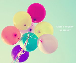 balloons, happy, and sky image