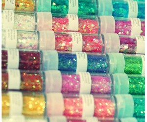 colourful, glitter, and container image
