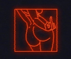red, neon, and wallpaper image