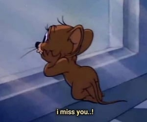i miss you, sad, and tom and jerry image