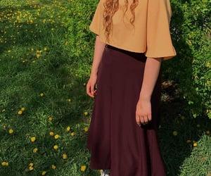 fashion, girl, and grass image