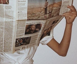 newspaper, girl, and aesthetic image
