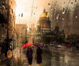 rain, umbrella, and london image