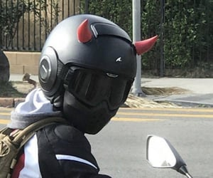 Devil, horns, and motorcycle image