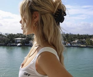 girl, hairstyle, and hair image