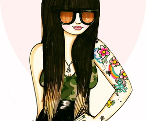 draw, love it, and Ilustration image