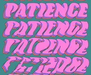 affiche, patience, and retro image