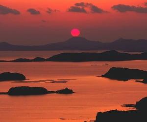 sunset, theme, and orange image